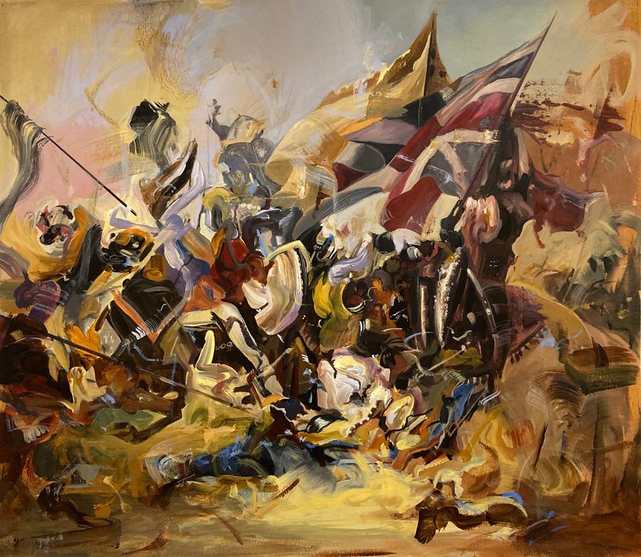 Paintings by artist Dairo Vargas